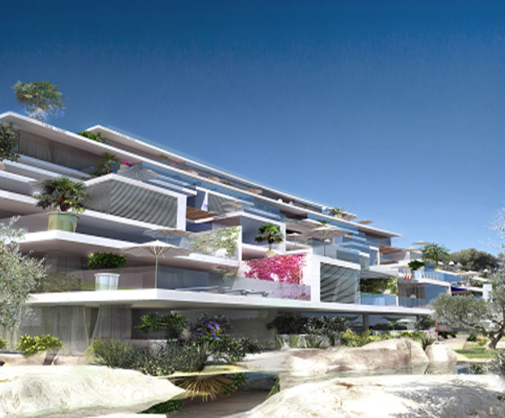 nice sea view apartment in a residence under construction